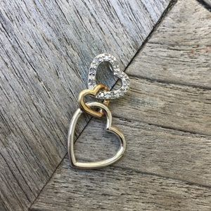 Jewelry - Sterling Silver Gold Heart Necklace Pendant 925